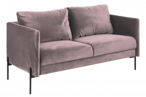 Tapicerowana sofa Kingsley, 2,5-osobowa, różowa, dł.156 x szer.82 x wys.85 cm