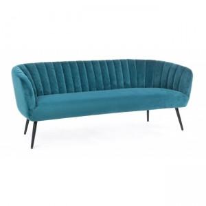 Tapicerowana sofa Avril, 3-osobowa, niebieska, dł.178 x szer.71 x wys.69 cm