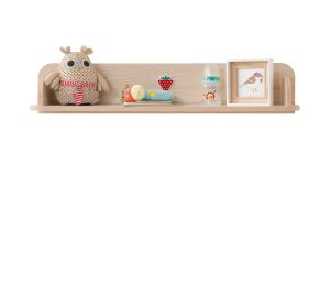 Półka Montessori Baby, z płyty wiórowej w kolorze naturalnym, dł.86 x szer.18 x wys.17 cm