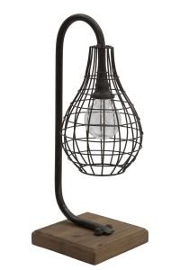 Lampa biurkowa Iron A, czarna