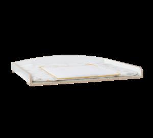 Przewijak/ półka Montessori Baby z płyty wiórowej, biały/ naturalny, dł.95 x szer.78 x wys.13 cm