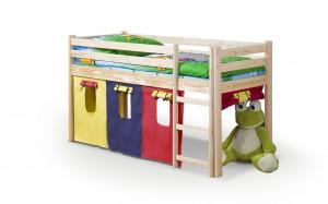 Łóżko dziecięce Neo z drewna sosnowego - 190 x 80 cm