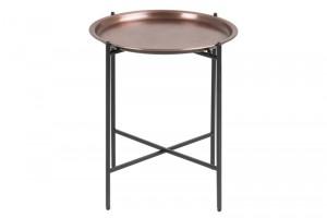 Stolik kawowy Osborn z metalu, Ø39,5 x wys.48 cm