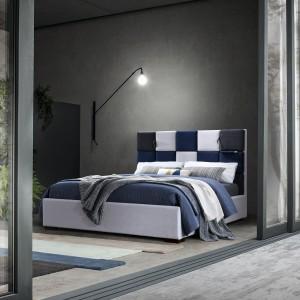 Łóżko Santiago II Grey, tapicerowane, szare, 200 x 160 cm
