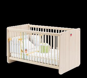 Łóżko dziecięce Montessori Baby, z płyty wiórowej w kolorze naturalnym, 120 x 60 cm